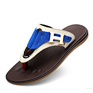 Men's Sandals Summer Leather Casual Flat Heel Others Blue Brown Other