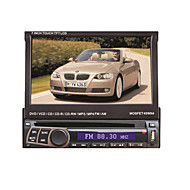 7 Inch 1Din TFT-Screen In-Dash Detachable Panel Car DVD Player with GPS,BT,RDS,iPod,Touch Screen