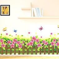 Bloemen / Bomen / Bladeren / Art Deco Wallpaper voor Home Modern Behangen , PVC/Vinyl Materiaal lijm nodig Muurschildering , kamer