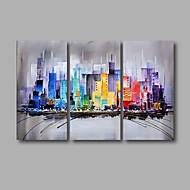 Kézzel festett Absztrakt Landscape Festmények,Modern Három elem Vászon Hang festett olajfestmény For lakberendezési