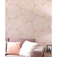 Damast / Blumen / Streifen / Art Deco / 3D Tapete Für Privatanwender Zeitgenössisch Wandverkleidung , Vliesstoff StoffKlebstoff