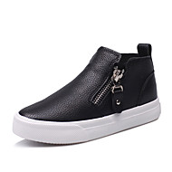 Boy's Flats Spring / Summer / Fall Comfort / Round Toe / Flats PU Outdoor / Athletic / Casual Flat Heel Zipper Black