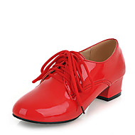 Women's Oxfords Spring / Fall Comfort Dress / Casual Low Heel Lace-up Black / Red / White / Almond Others