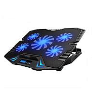 reglabil condus de ecran de control inteligent răcire tampon laptop cu 5 ventilatoare