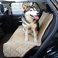 כלב כיסוי מושב לרכב חיות מחמד משטחים עמיד למים מתקפל שחור חום בייז' קטיפה