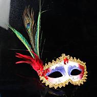 孔雀の羽プルームマスクパーティーボールマスクをヴェネツィアマスクの女性の女性の結婚式の装飾のイタリア王女を装います