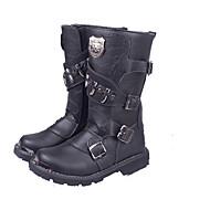 Boty-Kůže-Jezdecké boty-Pánské-Černá-Outdoor Work & Safety-Plochá podrážka