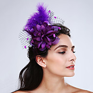 Women's Feather / Net Headpiece-Wedding / Special Occasion / Casual Fascinators 1 Piece