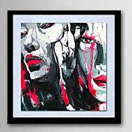 Ručně malované Abstraktní / Lidé / Fantazie / Abstraktní portrét olejomalby,Moderní Jeden panel Plátno Hang-malované olejomalba For Home