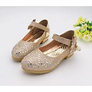 Rasos-Conforto Light Up Shoes-Rasteiro-Rosa Prateado Dourado-Couro Ecológico-Casual