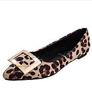 Dame-Fleece-Flat hæl-Komfort-Flate sko-Kontor og arbeid Fritid-Svart Grå Leopard