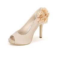 Women's Heels Spring / Summer / Fall Heels / Peep Toe Silk Wedding / Party & Evening