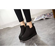 Women's Boots Spring / Fall Fashion Boots Rubber Outdoor Flat Heel Others Black / Red Walking