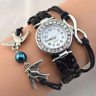 Women's Fashion Watch Bracelet Watch Wrist watch Quartz Strap Watch Rhinestone Imitation Diamond PU BandVintage Sparkle Heart shape Bohemian Pearls