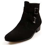 Men's Boots Winter Fashion Boots / Comfort / Pointed Toe PU Casual Low Heel Zipper Black / Brown / Gray Others