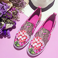 Women's Loafers & Slip-Ons Summer Fall Comfort Leather Casual Flat Heel Flower Green Red Others