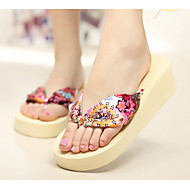 Women's Sandals Summer Synthetic Casual Wedge Heel Others Black Blue Yellow Green Beige Other