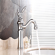 Sink Faucets , Contemporary with Chrome Single Handle One Hole , Feature for Centerset
