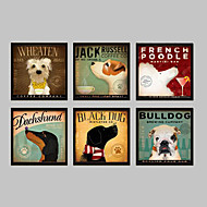 Animal Framed Canvas / Framed Set Wall Art,PVC Black No Mat With Frame Wall Art