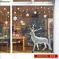 skleněné okenní fólie barevné květiny sklo nálepky veselé Vánoce Vánoční okno