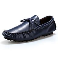 Lapos-Lapos-Női cipő-Papucsok & Balerinacipők-Alkalmi-Bőr-Fekete / Kék / Barna