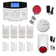 LCD Wirless GSM/PSTN Home House Office Security Burglar Intruder Alarm System Smoke Alarm System