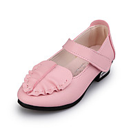 Flats Spring Summer Light Up Shoes PU Casual Flat Heel Ruffles Split Joint Pink Red White Other