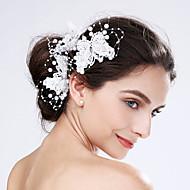 Dame Blonde Akryl Plastik Medaljon-Bryllup Speciel Lejlighed Blomster 3 Dele