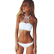 Kvinders Polyester/Spandex Halterneck Folder Bikini Push-up