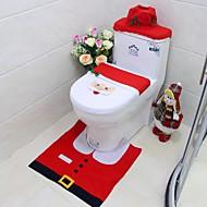 מתנה לשנה חדשה טובה כיסוי מושב המולד סנט טואלט שמח& שטיח להגדיר אמבטיה קישוט חג המולד