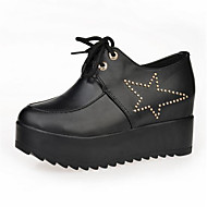 Women's Sneakers Spring / Summer / Fall / Winter Comfort Leatherette Outdoor / Athletic / Casual Wedge Heel Lace-up