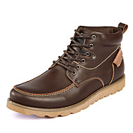 Men's Boots Fall / Winter Work & Safety Leather Outdoor / Casual Flat Heel Lace-up Black / Brown / Camel Others