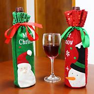 2kpl kuuma myynti joulukoristeita joulupukin lumiukko punaviini pullo kansi