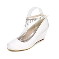Da donna-Tacchi-Matrimonio Serata e festa-Club Shoes Light Up Shoes-Zeppa-Seta-Nero Blu Rosa Viola Rosso Avorio Bianco Argento Dorato