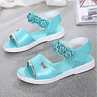 Girl's Sandals Summer Open Toe Casual Flat Heel Applique Blue / Pink Walking