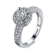 lureme Luxury 18kRPG Cubic Zirconia Weddinng Engagement Band Ring