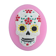 1PC Halloween Diy Skeleton Mask Baking Mold Cake Mold 3D Silicone Mould Cake Decorating Baking Tool  Random Color