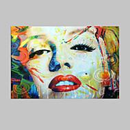 Ručně malované Lidé olejomalby,Klasický / Tradiční Jeden panel Plátno Hang-malované olejomalba For Home dekorace