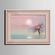 E-HOME® Framed Canvas Art, In The Water Tree Framed Canvas Print One Pcs