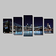 5 Panels Brooklyn Bridge Canvas art Print Modern Wall Art for Livingroom Decoration Unframed