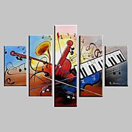 El-Boyalı Soyut Manzara Fantezi Soyut Manzara Herhangi Şekli Beş Panelli Kanvas Hang-Boyalı Yağlıboya Resim For Ev dekorasyonu