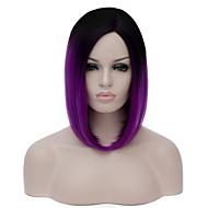 Black and bright purple,Are partial gradient Harajuku Lolita Lolita COSPplay animation wig.