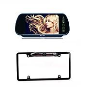 7 TFT LCD Monitor Mirror  Car Backup US License Plate Frame HD  Camera