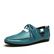 Men's Flats Spring / Summer Round Toe / Flats Leather Outdoor / Office & Career / Casual Flat Heel