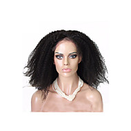 "Full Lace Wigs Brazilian Afro Kinky Curly Unprocessed  Brazilian Human Hair 26""28"" Natural Color"