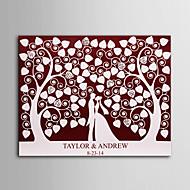 e-Home® personlig signatur lærred usynlig ramme print - under kærlighed træ