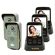 kivos kdb302a פעמון דלת אלחוטי וידאו בפעמון השני גרורה שלוש נעילת מצלמת ניטור מרחוק