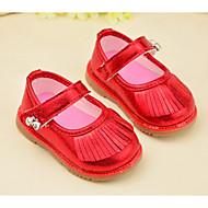 Sandals Spring Summer Fall Comfort Light Up Shoes Leather Outdoor Flat Heel Tassel Pink Red Walking