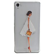 Para Capinha Sony / Xperia XA Estampada Capinha Capa Traseira Capinha Mulher Sensual Macia TPU para Sony Sony Xperia XA / Sony Xperia E5