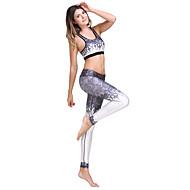 Ioga Leggings Conjuntos de Roupas/Ternos Blusas Calças Respirável Com Elástico Moda Esportiva Mulheres-LALPINA®,Ioga Pilates